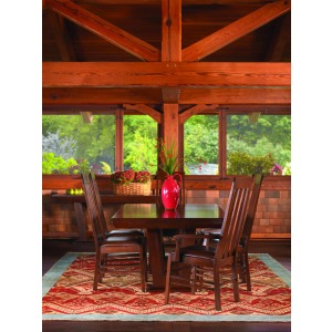 Highlands 7 PC Dining Set - Oak
