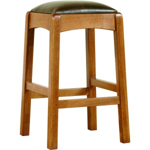 Backless Bar Stool -Oak