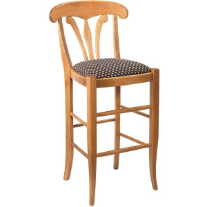 "Country Manor 24"" Counter Stool w/Leather Seat"