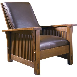 Spindle Morris Chair - Oak & Tight Seat