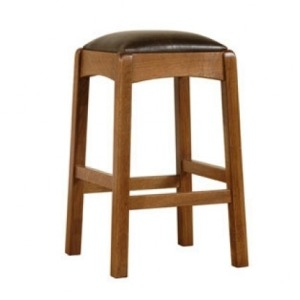Backless Counter Stool - Oak