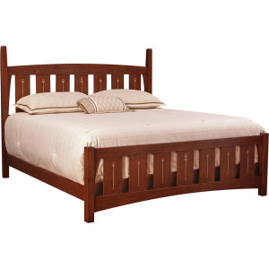 Harvey Ellis Queen Bed w/Mid Footboard - Oak
