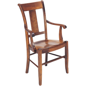 Provence Arm Chair w/Leather Seat
