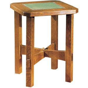 Tile Top Tabouret Table - Oak