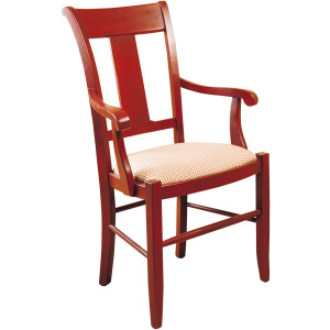 Provence Arm Chair w/Upholstered Seat