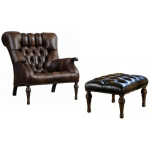 Leopold's Chair & Ottoman