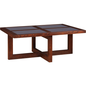 Soho Cocktail Table - Oak w/Inset Glass Top