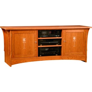 "68"" Harvey Ellis TV Console -Cherry"