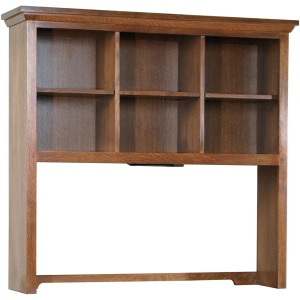 Computer Desk Hutch - Oak