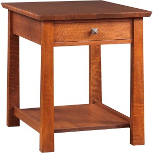 Highlands End Table - Oak