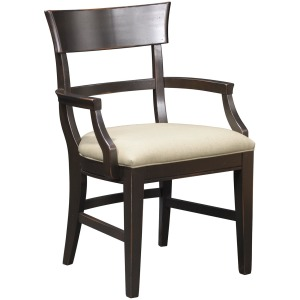 Winchester Lodge Arm Chair w/Upholstered Seat