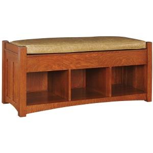 Loose Cushion Storage Bench - Oak