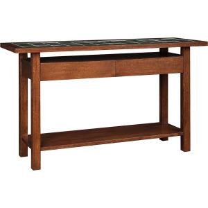 Mission Tile Top Console Table - Oak