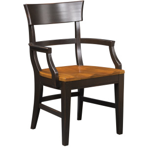 Winchester Lodge Arm Chair w/Wood Seat