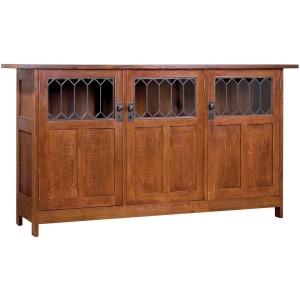 Three Door Display Buffet - No Drawers - Oak