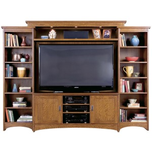 Left Facing Bookcase Unit -Cherry