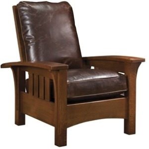 Loose Cushion Bow Arm Morris Chair