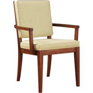 Carmel Arm Chair w/Leather Seat