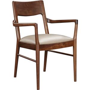 Walnut Grove Arm Chair - Salvador Dove Leather