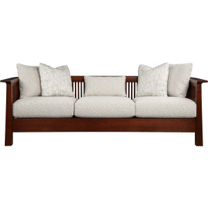 Park Slope Sofa - Oak w/Scatter Back