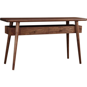 Walnut Grove Console Table w/Inset Stone Top