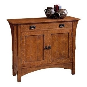 Two Door Console - Oak