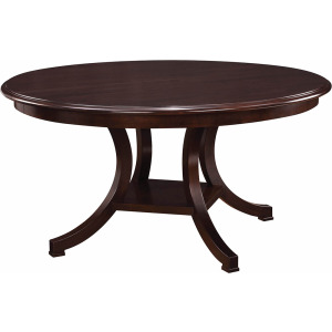 "Exeter Round Dining Table - 48"" w/ Grooved Top"