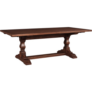 Ledyard Trestle Table - Ash w/Grooved Top
