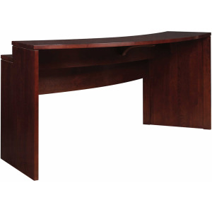 High Line Curved Gathering Island w/Wood Top