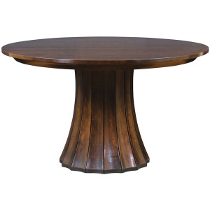 "46"" Split Base Pedestal Table w/2 Leaves"