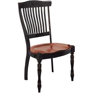 Antiguan Side Chair w/Wood Seat