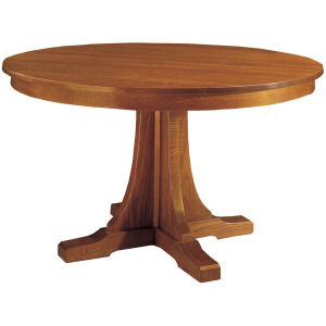 "52"" Round Pedestal Dining Table w/Three Leaves - Cherry"