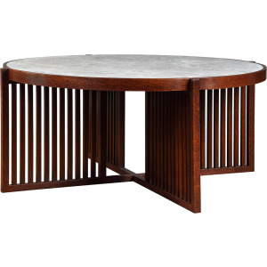 Park Slope Round Cocktail Table - Oak