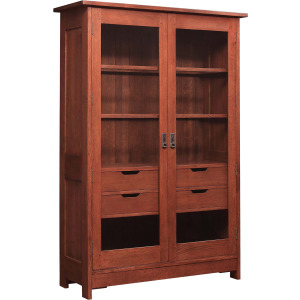 Mission Display Cabinet - Cherry