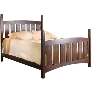 Harvey Ellis Bed w/Mid Footboard - Cherry