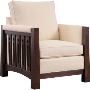 Highlands High Back Chair - Oak