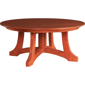 Highlands Round Cocktail Table - Oak