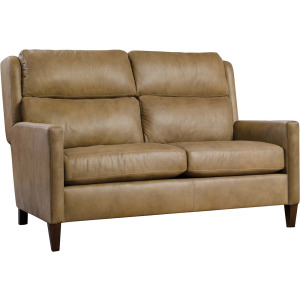"Woodlands 56"" Narrow Track Arm Loveseat - Leather"