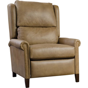 Woodlands Small Roll Arm Leather Recliner