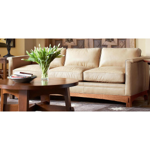 "Park Ridge 86"" Sofa w/Oak Base"
