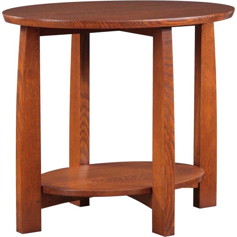 Highlands Oval End Table