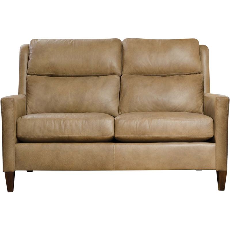"""Woodlands 56"""" Narrow Track Arm Loveseat - Leather"""