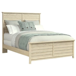 DRIFTWOOD PARK-PANEL BED IN VANILLA OAK - QUEEN