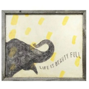 Smiling Hill - Smart Elephant Wall Art