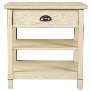 DRIFTWOOD PARK - BEDSIDE TABLE - VANILLA OAK