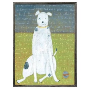 Teaberry Lane - White Boy Dog Wall Art