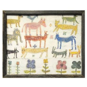 Teaberry Lane - Stacked Animals Wall Art