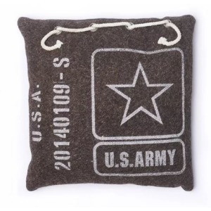 Teaberry Lane - Army Canvas Pillow