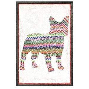 Smiling Hill - Frenchie with Zig Zags Wall Art