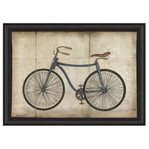 Smiling Hill - Blue Bicycle Wall Art